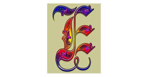 letter  alphabet monogram print postcard zazzlecom