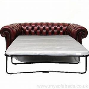 tudor two seater leather sofa bed low back chesterfield With low back sofa bed