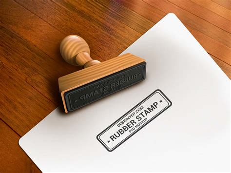 rubber stamp mock  mockuptree