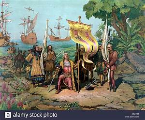 Spanish colonization of the Americas Stock Photo, Royalty ...