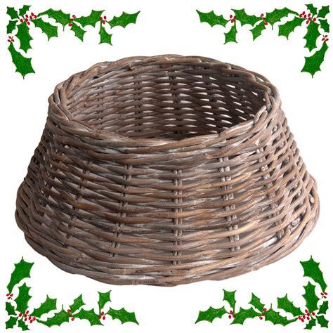 wicker christmas tree skirt uk wicker tree skirt