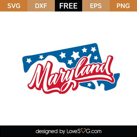 Use the list below to select a map you need. Free Maryland SVG Cut Files (2) | Lovesvg.com