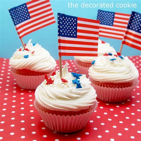 4th of july cupcake 4th of july cupcakes the decorated cookie