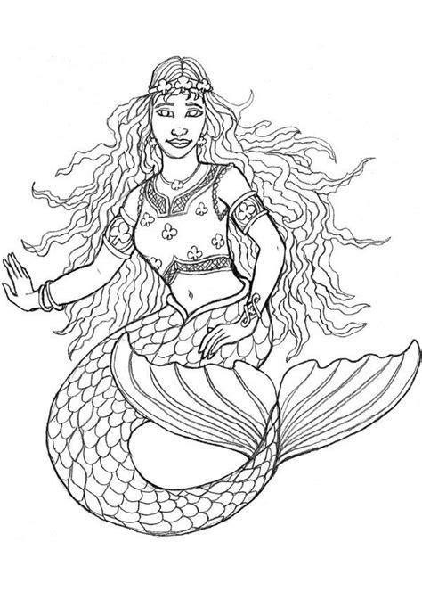 printable mermaid coloring pages  kids