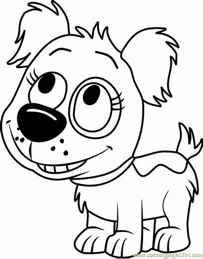 Pound Puppies Coloring Dinky Pages Coloringpages101 Cartoon