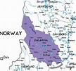 Map of Dalarna in Sweden