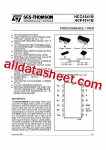 hcf4541b datasheetpdf stmicroelectronics With 4541 datasheet