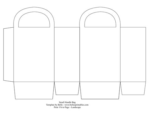 Printable Paper Bag Template