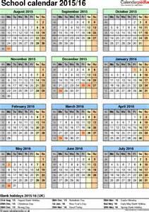 County School Calendar 2015 2016