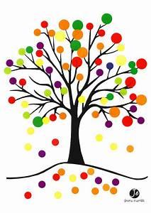 Feuilles D Automne à Imprimer : arbre d 39 automne en gommettes jouonsensemble ~ Nature-et-papiers.com Idées de Décoration