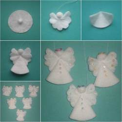 creative ideas diy cotton pad ornaments