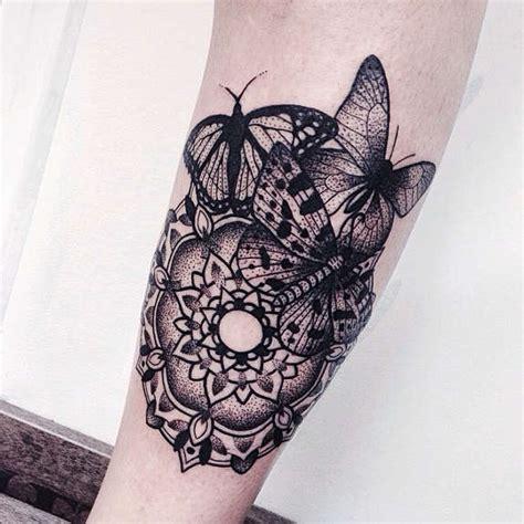 dot work mandala  butterfly tattoos   jessica