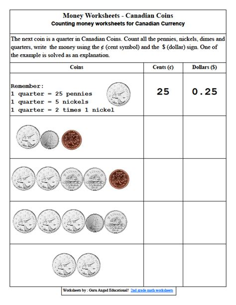 counting coins worksheets 2nd grade 2nd grade money