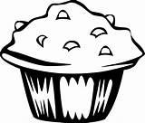 Coloring Cupcake Printable sketch template