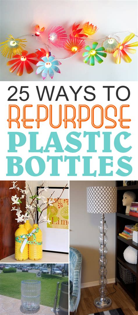 ways  repurpose plastic bottles  cute home