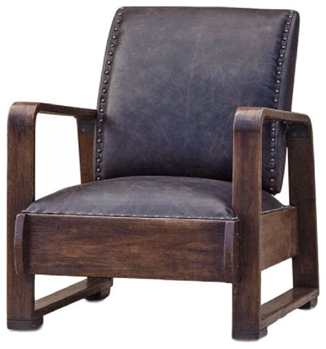nathaniel industrial loft walnut espresso brown leather