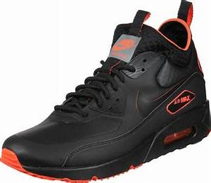 Nike Air Max 90 Ultra Mid Winter SE shoes black neon red