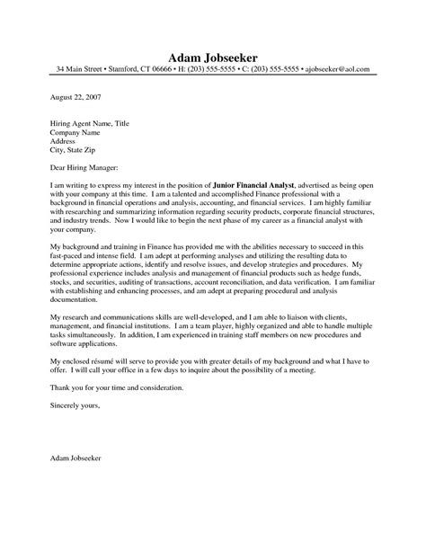 financial analyst cover letter  financial analyst