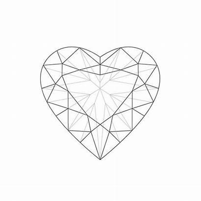 Diamond Tattoo Heart Drawing Diamonds Tattoos Shaped