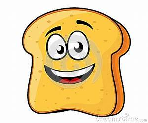 Slice Of Bread Or Toast With A Beaming Smile Stock Photo ...