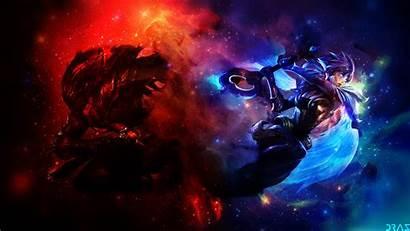 Yasuo Riven Dawnbringer Legends League Nightbringer Background