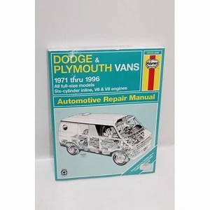 Garage En Anglais : manuel de r paration dodge et plymouth vans de 1971 1996 en anglais vintage garage ~ Medecine-chirurgie-esthetiques.com Avis de Voitures