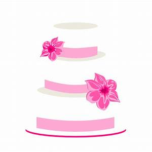 Pink Wedding Cake Clip Art at Clker.com - vector clip art ...