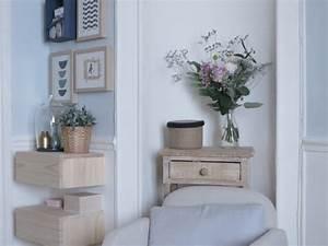Table De Chevet Bois Brut : un chevet suspendre joli place ~ Melissatoandfro.com Idées de Décoration