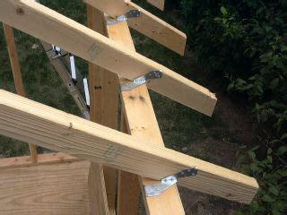 Pre Made Shed Trusses by Shed Construction Project Framing Rafters Ucandoit