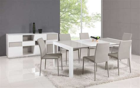extendable glass top leather italian dining table and