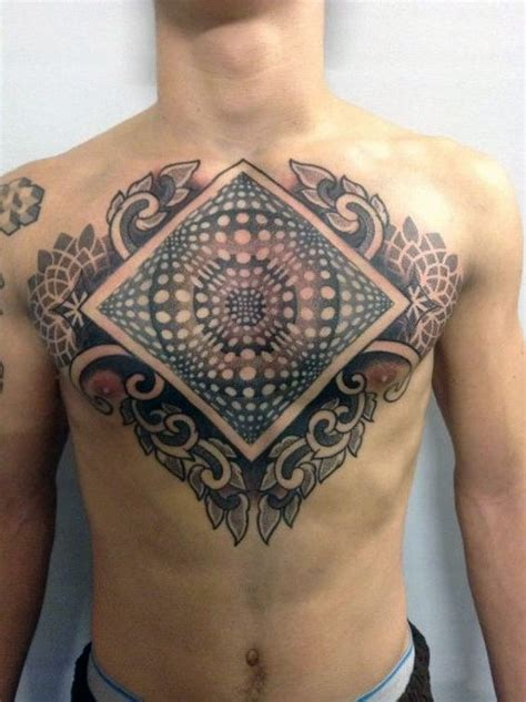 optical illusion tattoos  men eye deceiving designs
