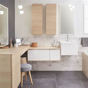 Carrelages Salle De Bain : mix de parquet et carrelage dans une grande salle de bains ~ Melissatoandfro.com Idées de Décoration