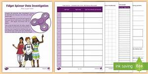 Fidget Spinner Maths Worksheet