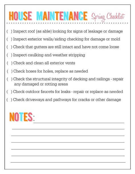 outdoor home and garden maintenance checklists clean and