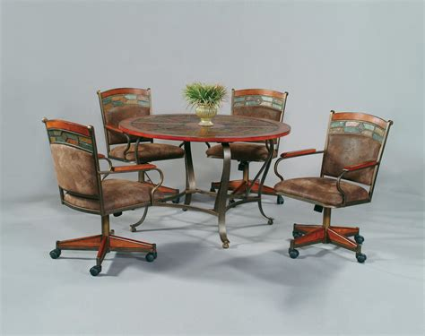 dining table with rolling chairs kitchen table with rolling chairs trends and dining on