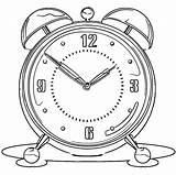 Alarm Clock Printable Coloring Clip Cartoonized Wecoloringpage sketch template