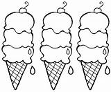 Coloring Ice Cream Pages Icecream sketch template