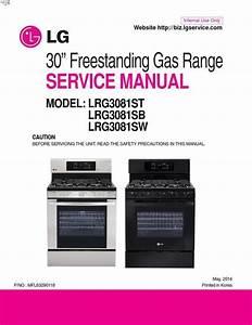 Lg Lrg3081st Lrg3081sb Lrg3081sw Freestanding Gas Range