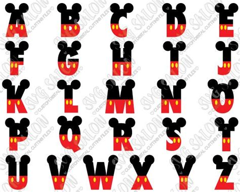 shop wide selection  unique svg files  cricut  small craft business disney alphabet