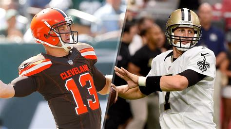 brothers mccown  start   saints  browns