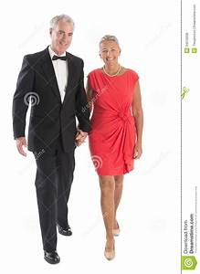 Couple Walking Against White Background Royalty Free Stock ...