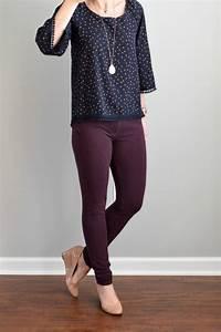 Best 25+ Purple pants outfit ideas on Pinterest | Plum pants outfit Purple jeans outfit and ...
