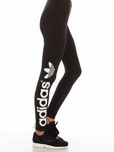 Adidas Trefoil Leggings in Black