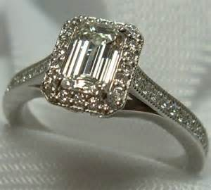 vintage emerald cut engagement rings emerald halo ring emerald engagement ring