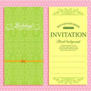 blank invitation card template free vector download With wedding invitation templates commercial use