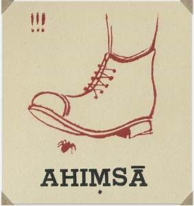 Ahimsa from a brush