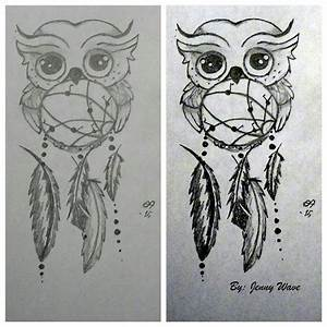 An Owl And A Dreamcatcher by JennyWave6 on DeviantArt
