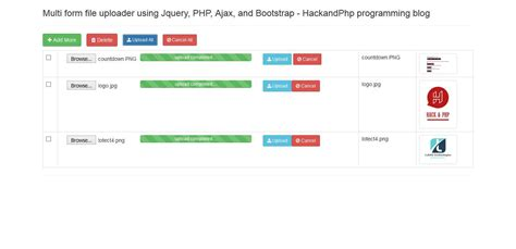Multiple Form File Uploader Using Jquery Ajax Php And