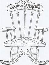 Chair Rocking Coloring Drawing Sheets Drawings Chairs Uploaded User Lounge Digi sketch template
