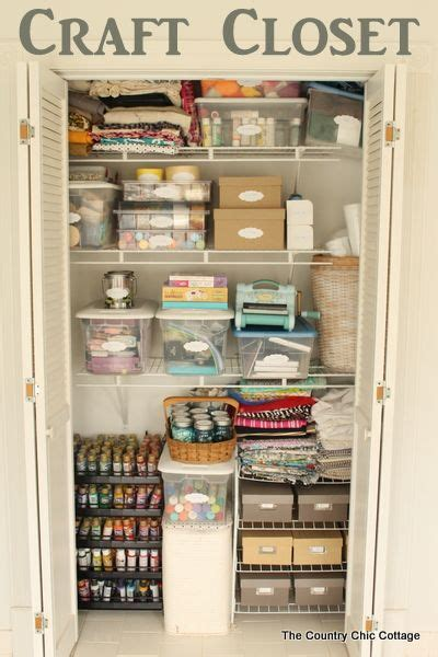 Closet Organization Ideas For Crafts by Organized Craft Closet Organizing Craft And Organizations